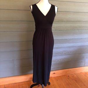 Eileen Fisher Faux Wrap Dress Black Sleeveless PP